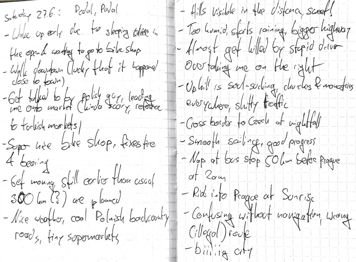 Diary Notes 27.6.2015