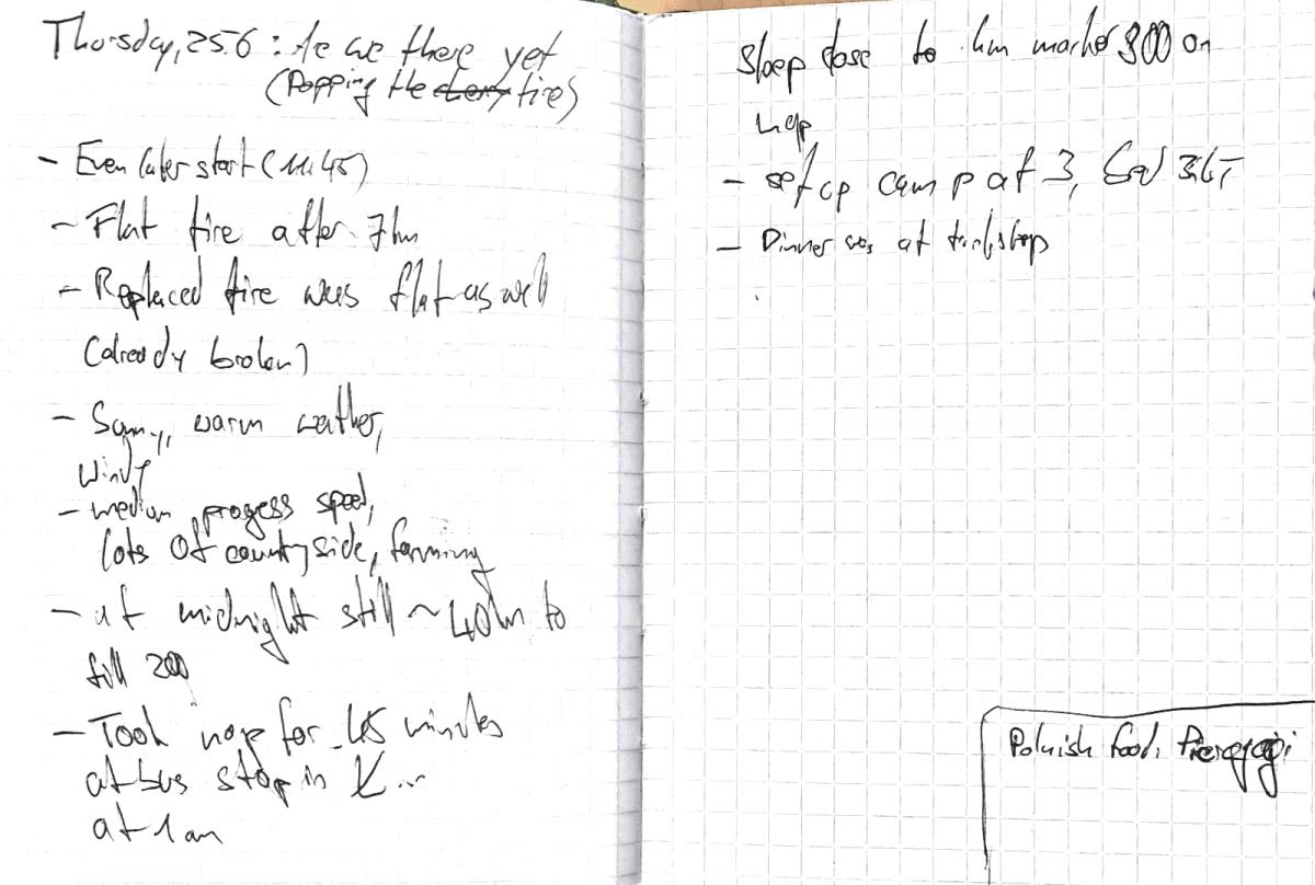 Diary Notes 25.06.2015