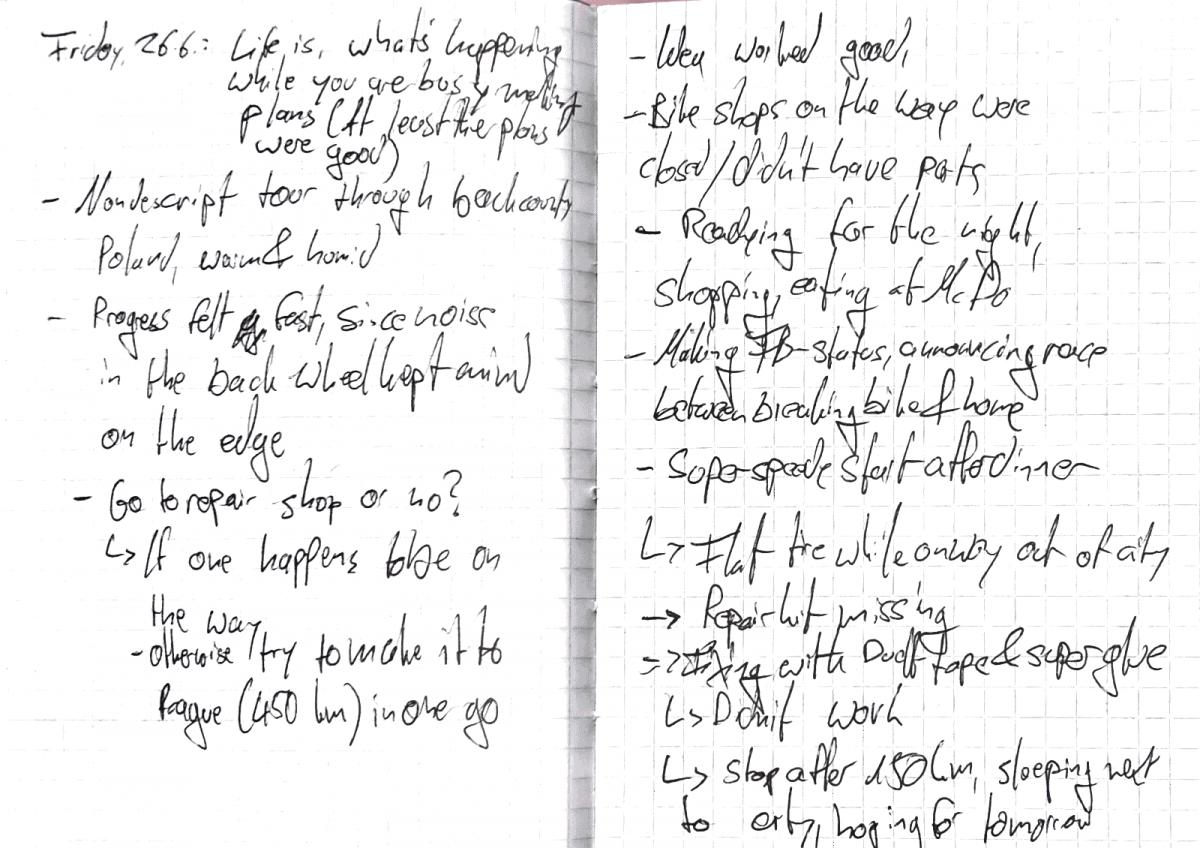 Diary notes 26.06.2016
